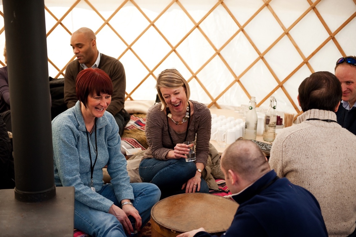 Offer party guests a cosy space to relax with luxury yurt from Roundhouse.