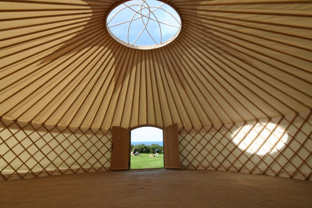 A yurt can be a blank canvas to style for your weekend.