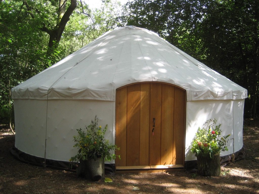 Luxury Yurts for hire for glamping weekends.