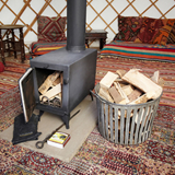 Wood burning stove Stove with Logs and Kindling £75