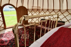 Art Deco Bed in a yurt