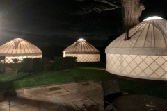 Extra accommodation with yurts at Castlemorton