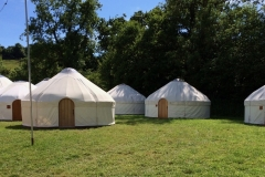Festival Yurts from Roundhouse Yurts at Glastonbury