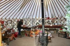 A Roundhouse Yurt at the Christmas pop up shop in Ludlow