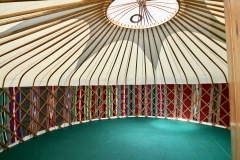 Moroccan blanket lined yurt from Roundhouse at the Edinburgh Fringe Festival