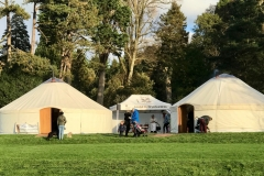 Roundhouse Yurts at the National Trust's Dyffryn Gardens Wood Fair