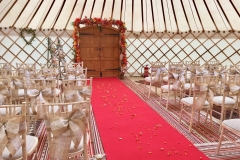 Wedding Vows in a yurt from Roundhouse