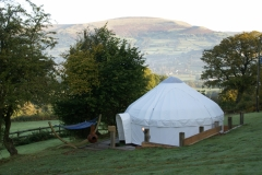 Luxury glamping yurt hire from Roundhouse Yurts