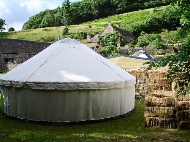 Farm wedding in a yurt Roundhouse Yurts