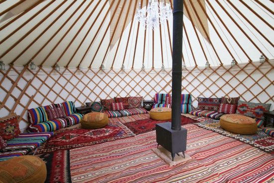 Luxury Chill Out package for a hired Yurt.