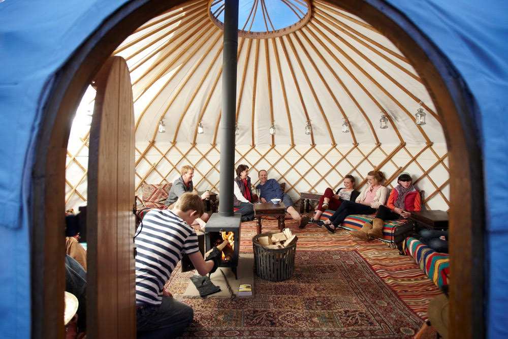 Roundhouse Yurt Hire for Events and Parties.