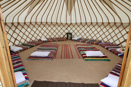 Festival yurt accommodation from Roundhouse Yurt.