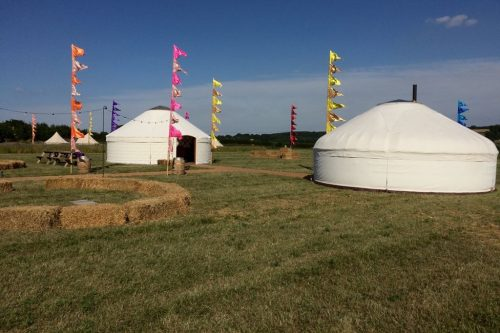 Roundhouse Yurts festival yurts at a leading UK festival yurts.