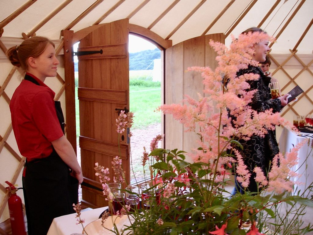 Roundhouse Yurts with one of our party interior options.