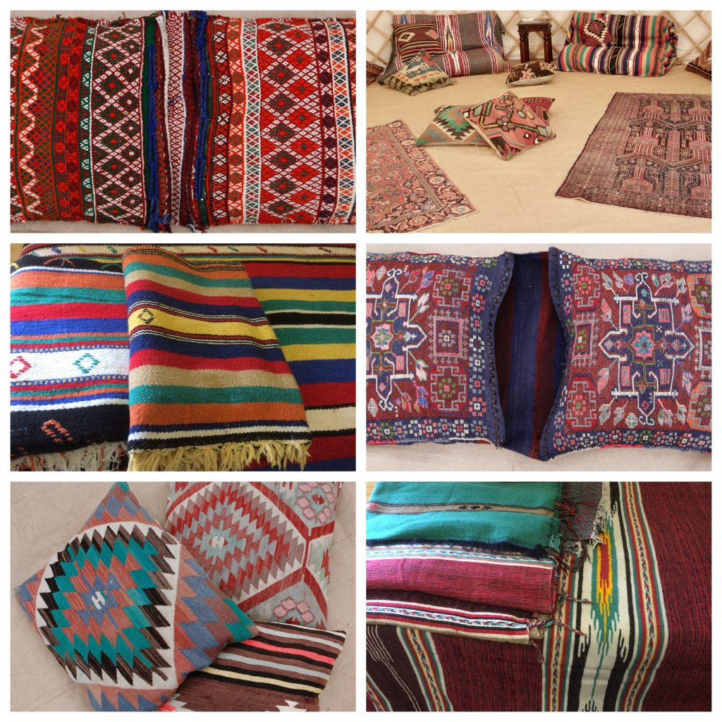 Saddle Bags & Moroccan Wool Blankets from Roundhouse Yurts.