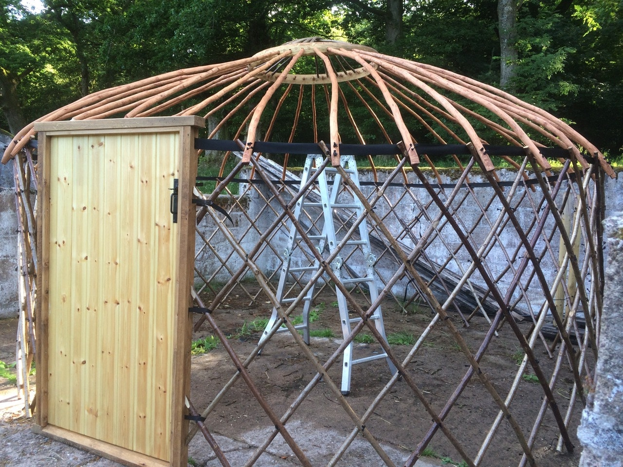 Coppiced Yurt in Hazel