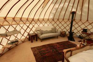 Wedding Yurt Interior
